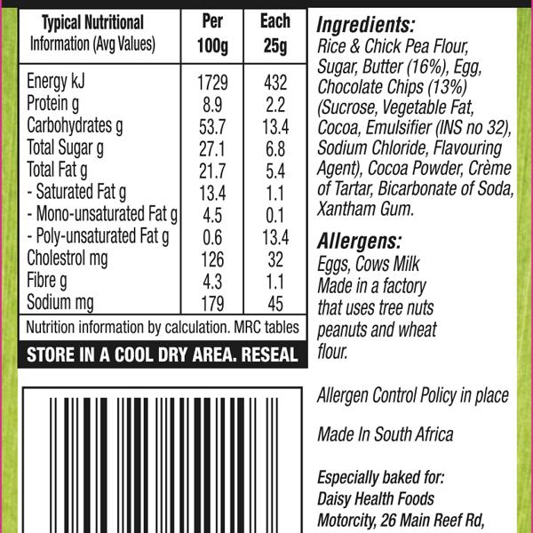 Choc Chip biscuit Label