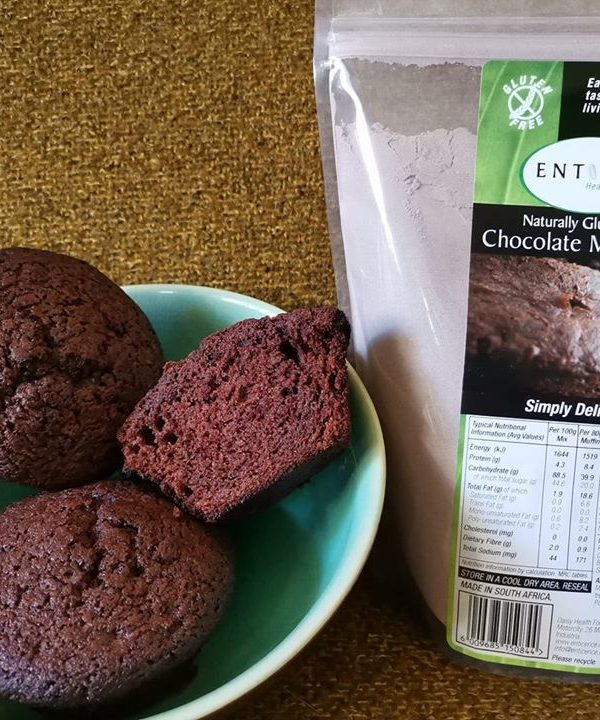 Choc muffins and packet