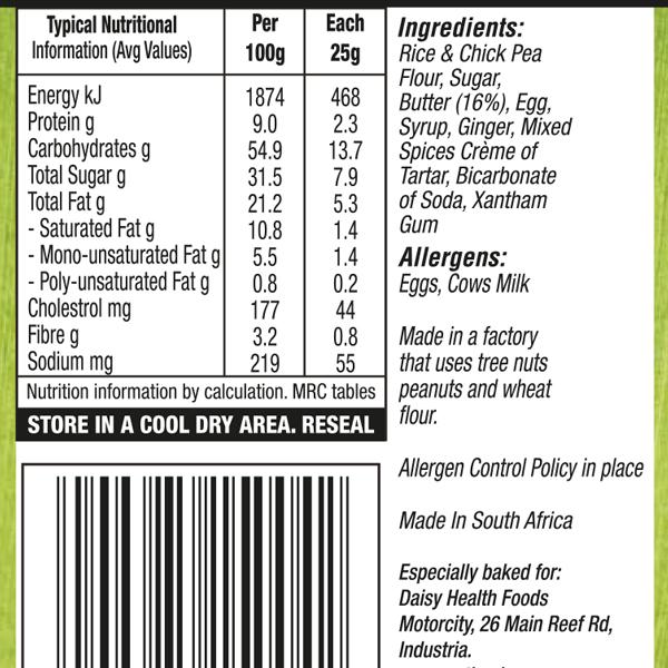 Ginger Butter Biscuit Label