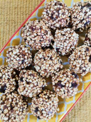 Puffed Millet and Date Balls