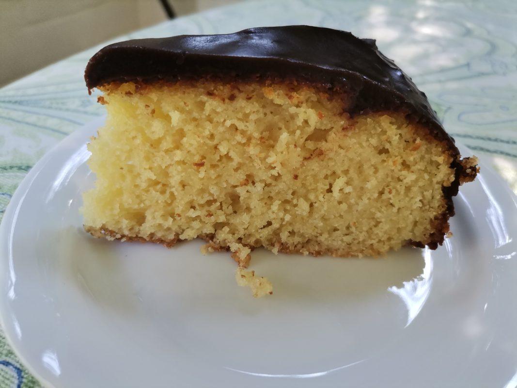 Gluten Free Vanilla Cake with Chocolate Ganache